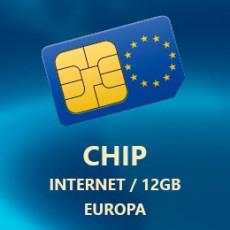 Chip 30 Dias Internet 12GB Europa